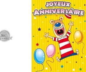 Carte joyeux anniversaire souris youpi!