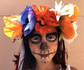 Couronne de fleurs pour Halloween