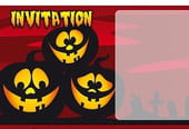 Carte invitation Halloween