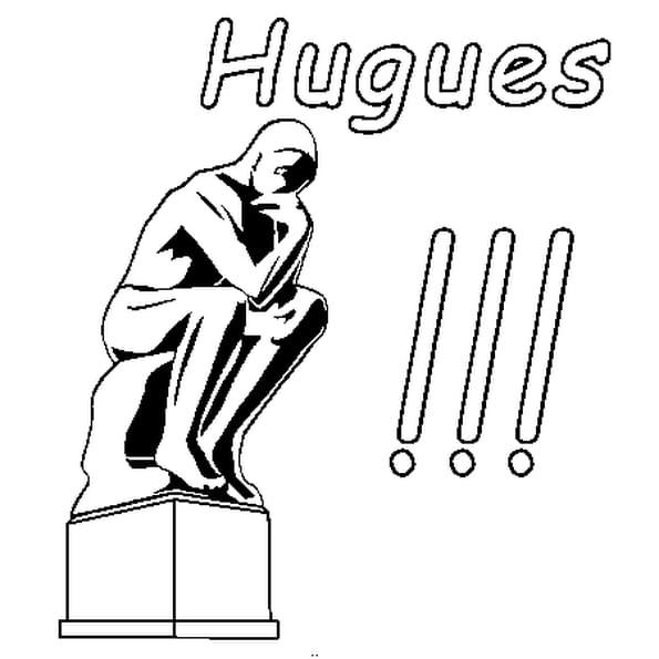 Dessin Hugues a colorier