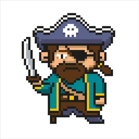Pirate En Pixel Art
