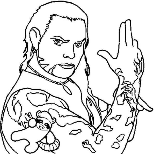 Coloriage Jeff Hardy En Ligne Gratuit à Imprimer