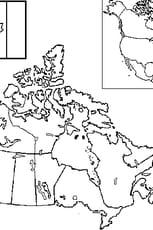Coloriage carte Canada
