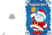 Carte de vœux Père Noël avec clochette