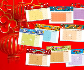 Calendrier 2021 du Nouvel an chinois