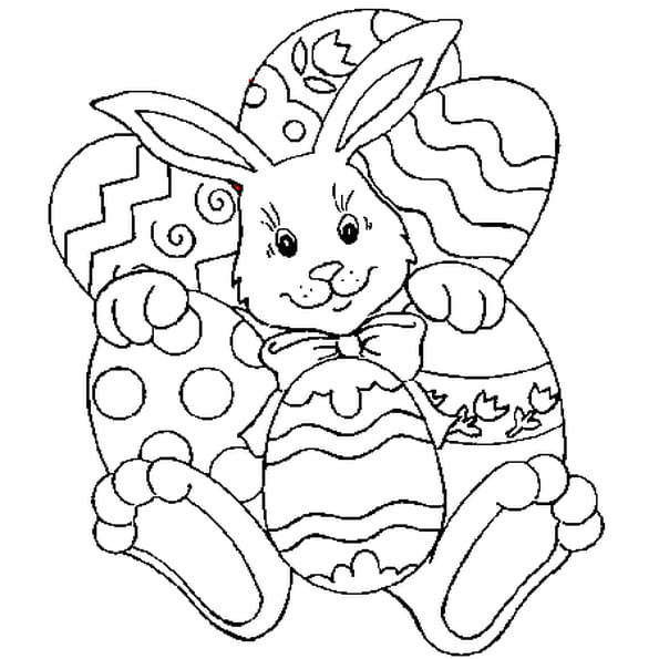 P ques lapin coloriage p ques lapin en ligne gratuit a - Coloriage lapin paques ...