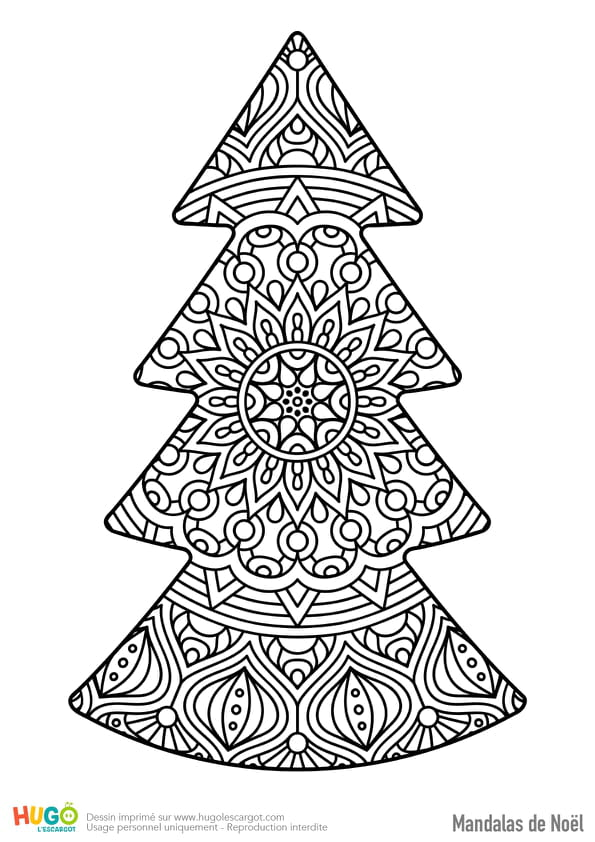 Mandala décoration sapin de Noël