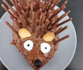Gâteau hérisson en Mikado
