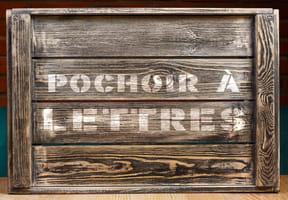Pochoir lettres à imprimer