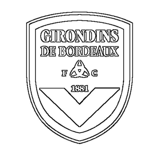Dessin girondins de Bordeaux a colorier