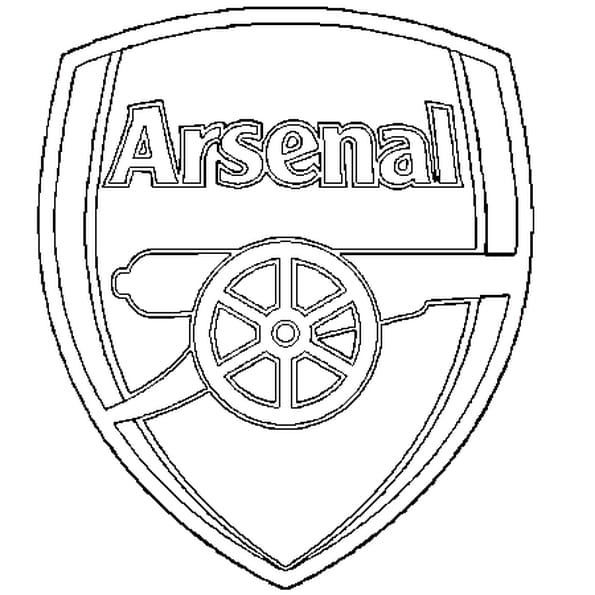 Dessin Arsenal a colorier