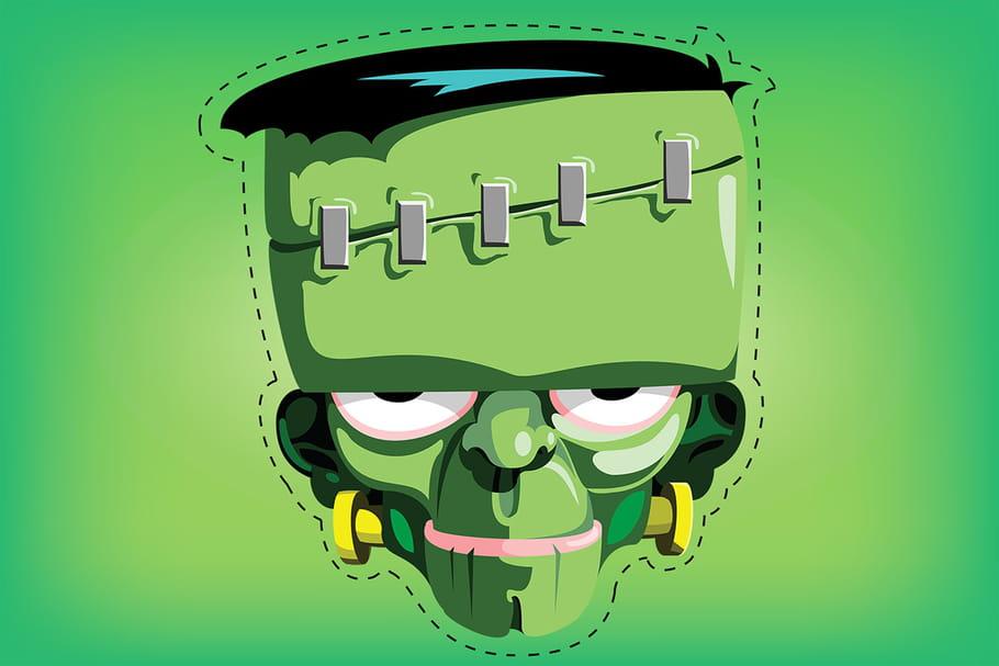 Masque Halloween à imprimer et fabriquer