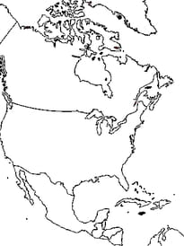 carte Amérique du nord