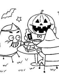 Coloriage Halloween Sur Hugolescargot Com