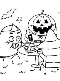 Fantôme et citrouille d'halloween