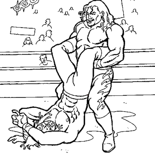 Coloriage Catch WWE en Ligne Gratuit à imprimer