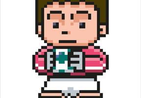Pixel art gardien de football