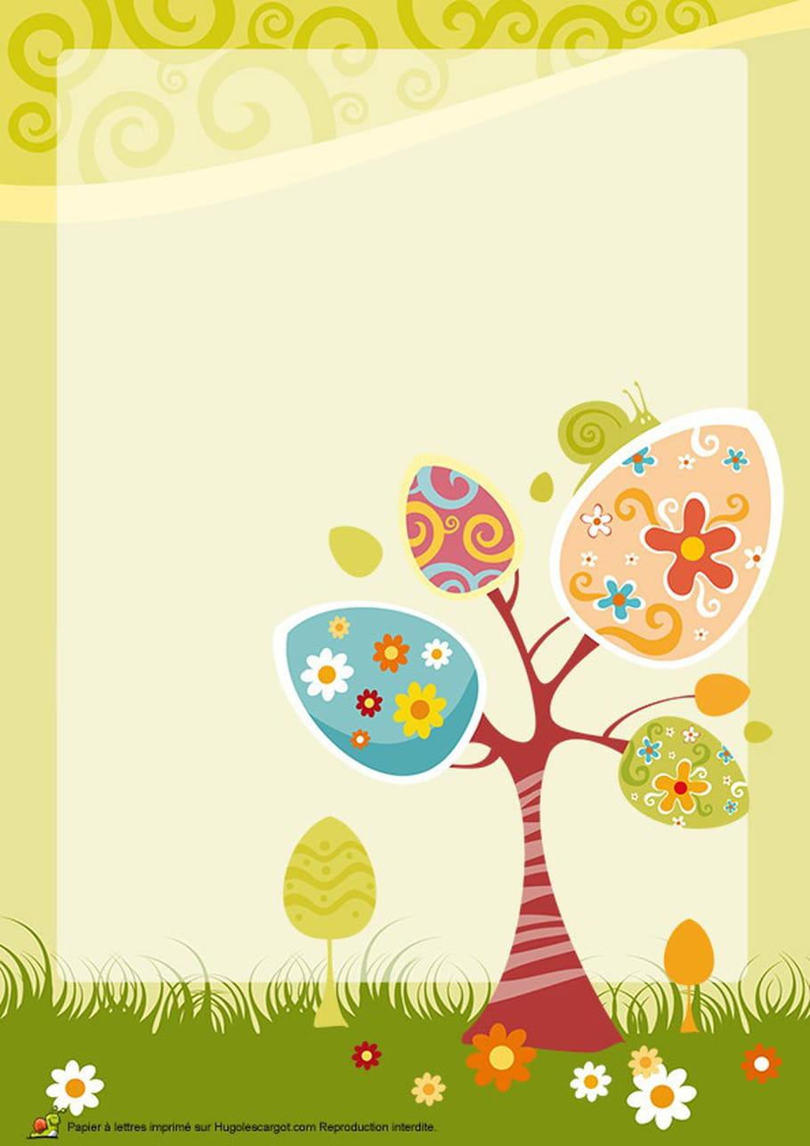 Carte d'un arbre de Pâques