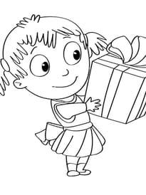 Activités de Noël, ouvrir le cadeau