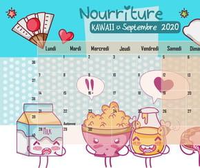 Nourriture Kawaii: calendrier2020