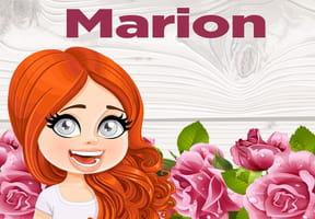 Marion : prénom de fille lettre M