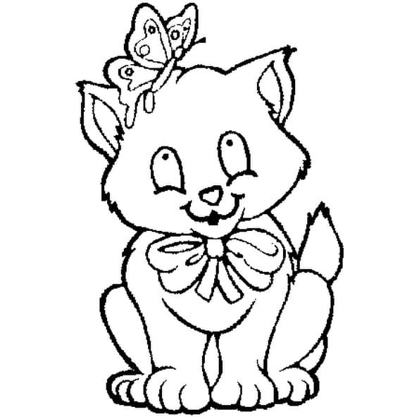 Chat et papillon coloriage chat et papillon en ligne - Papillon imprimer ...