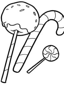 Coloriage Bonbon Et Sucreries à Imprimer Sur Hugolescargot Com