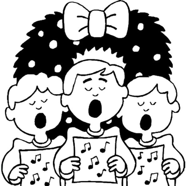 Coloriage chant noël en Ligne Gratuit à imprimer