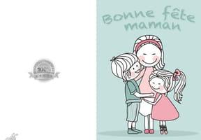 Carte fête des mères frère et sœur
