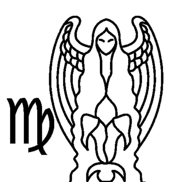 Dessin Signe de la Vierge a colorier