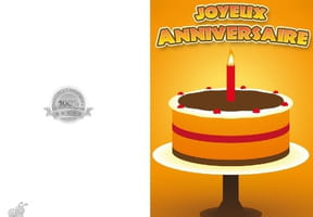 Carte anniversaire gâteau chocolat