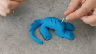 Étape 6: Réalisez les détails du corps du dinosaure