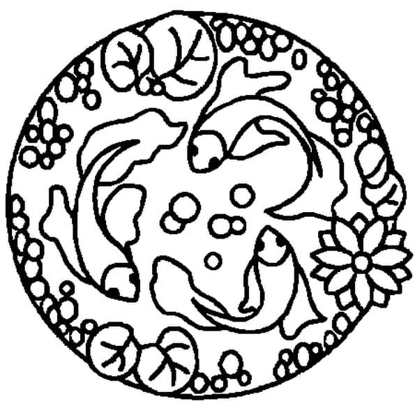 Coloriage mandala poisson en ligne gratuit imprimer - Coloriage mandala en ligne ...