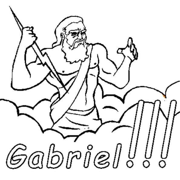 Dessin Gabriel a colorier