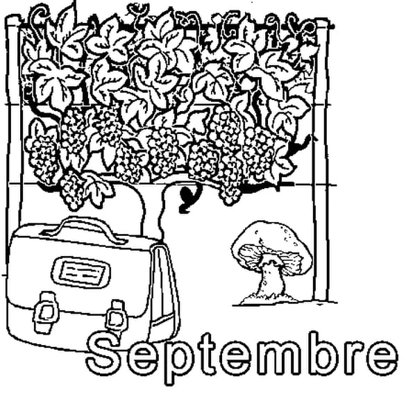 Dessin Septembre a colorier