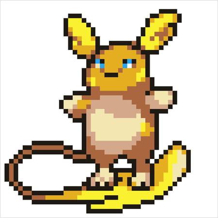 Pokémon Raichu Dalola En Pixel Art