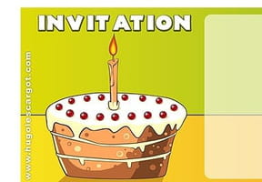 Carte invitation anniversaire gâteau