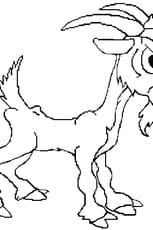 Coloriage chèvre en Ligne Gratuit à imprimer