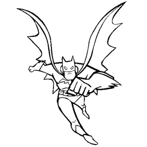 dessin batman a colorier