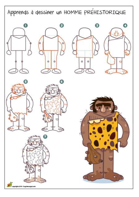 Dessiner Un Homme Prehistorique
