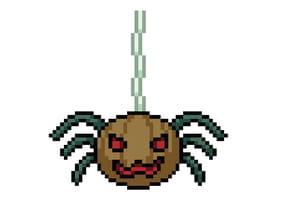 Pixel art Halloween araignée