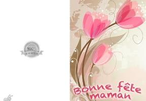 Carte fête des mères tulipes