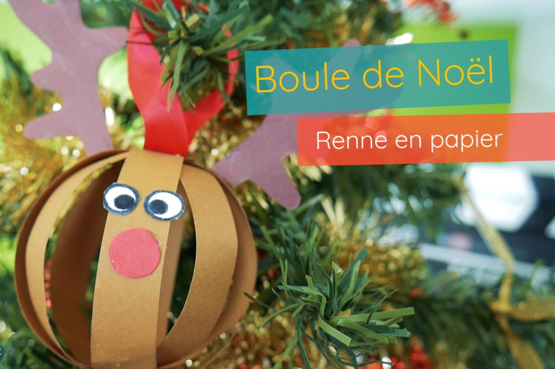 Boule De Noël Renne Pour Les Petits