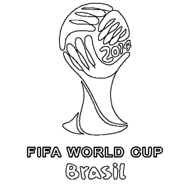 Coloriage De la Coupe du Monde 2014 en Ligne Gratuit à imprimer