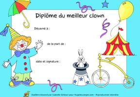 Diplôme du meilleur clown