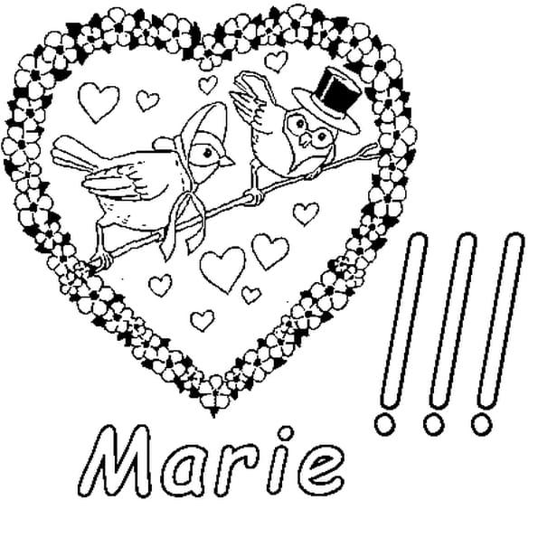 Coloriage Marie en Ligne Gratuit à imprimer