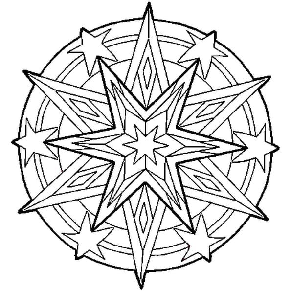 Coloriage Etoile.Coloriage Mandala Etoile En Ligne Gratuit A Imprimer