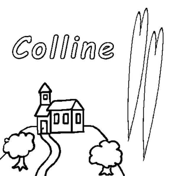 Dessin Colline a colorier