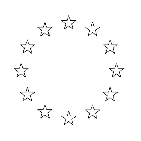 Coloriage drapeau union européenne en Ligne Gratuit à imprimer