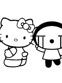 Hello Kitty et Pucca.